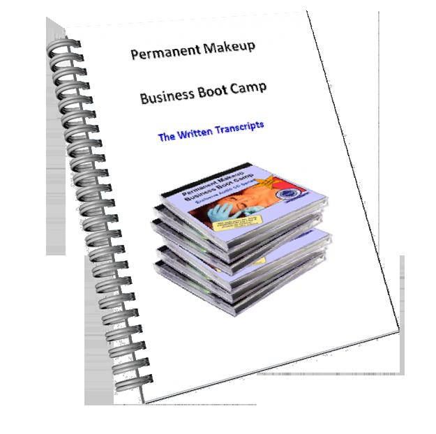 Permanent Makeup Business Boot Camp Written Transcripts Book Image