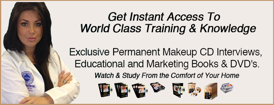 Permanent Makeup Training DVDs and Books from the Permanent Makeup Training Academy London