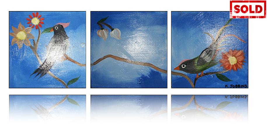 Oriental Birds Artwork by Katy Jobbins