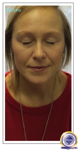 Client Before Having Permanent Makeup Perfect Powdered Effect With Natural Hair Simulation