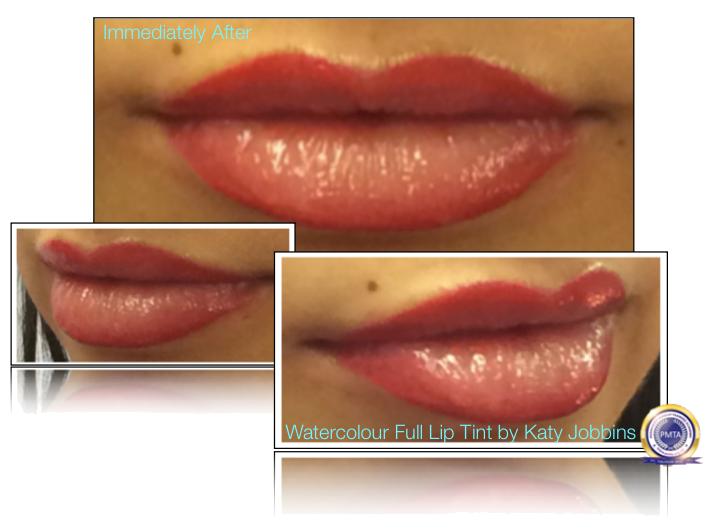 20-1-Katy Jobbins Permanent Makeup Watercolor Full Lip Tint