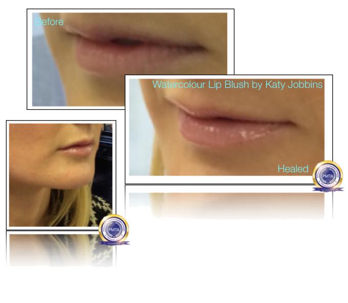 21-1-Katy Jobbins Permanent Makeup Watercolour Lip Blush for Blondes