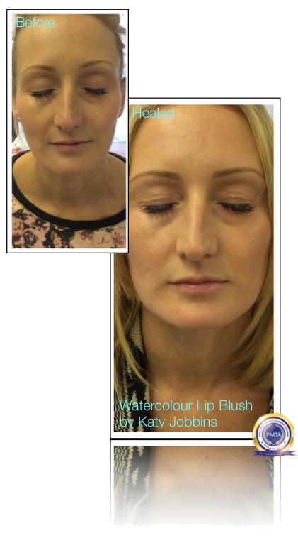 21-Katy Jobbins Permanent Makeup Watercolour Lip Blush For Blondes