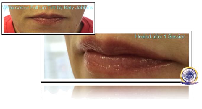 37-2-Katy Jobbins Permanent Makeup Watercolour Full Lip Tint