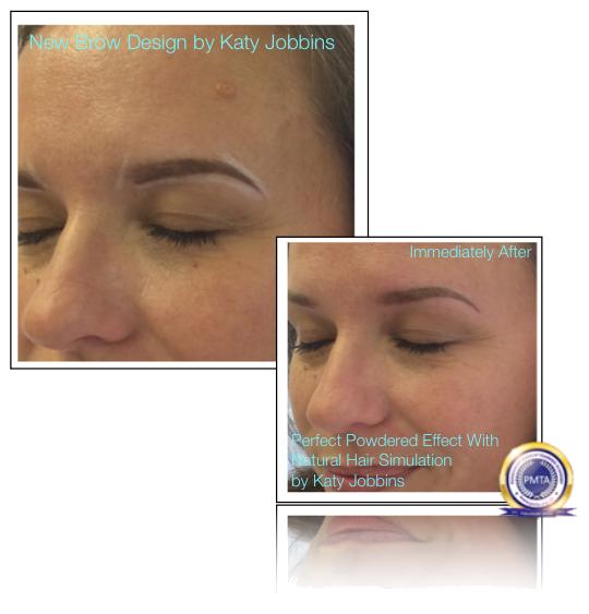 38-Katy Jobbins Permanent Makeup Perfect Powdered Effect With Natural Hair Simulation