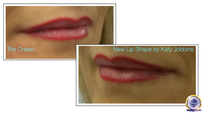 Part 2 of Complete Permanent Makeup Process - Outlining the New Lip Shape For The Client To See
