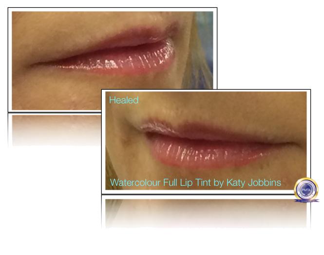 42-4-Katy Jobbins Permanent Makeup Watercolor Full Lip Tint