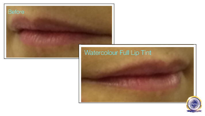 Clients Lips Prior To Complete Permanent Makeup Process