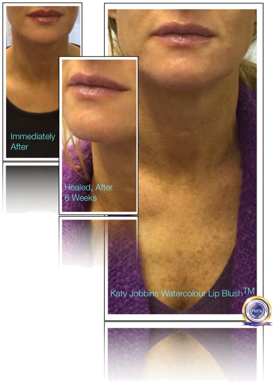 43-1-Katy Jobbins Permanent Makeup Healed Watercolour Lip Blush