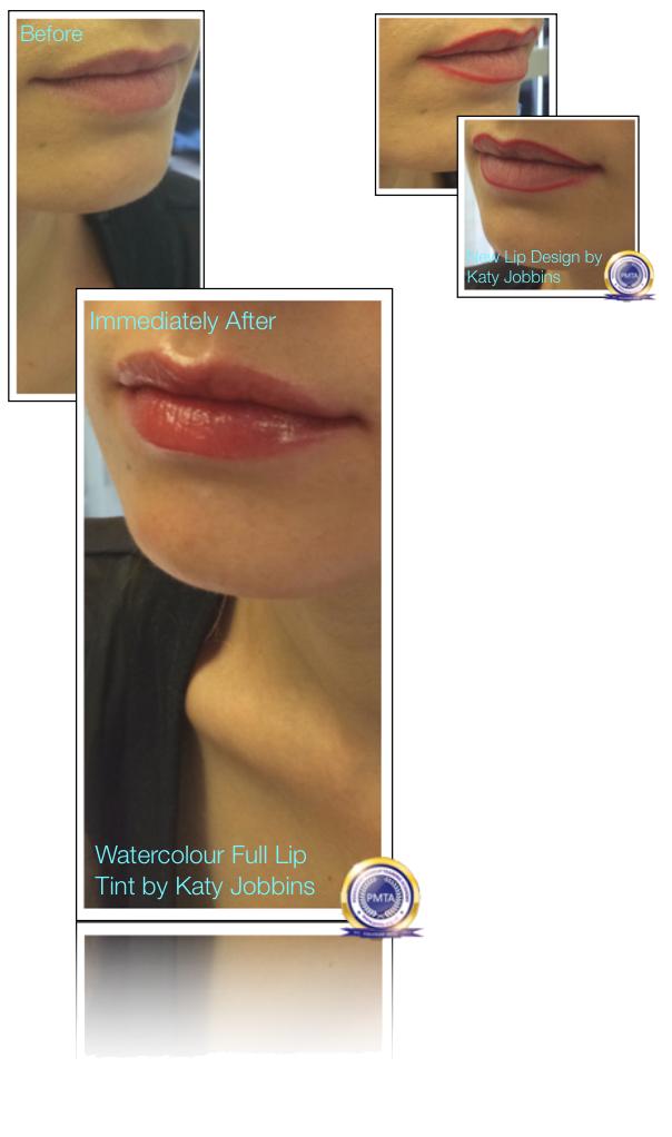 46-Katy Jobbins Permanent Makeup Watercolour Full Lip Tint