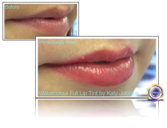47-1-Katy Jobbins Permanent Makeup Watercolour Full Lip Tint