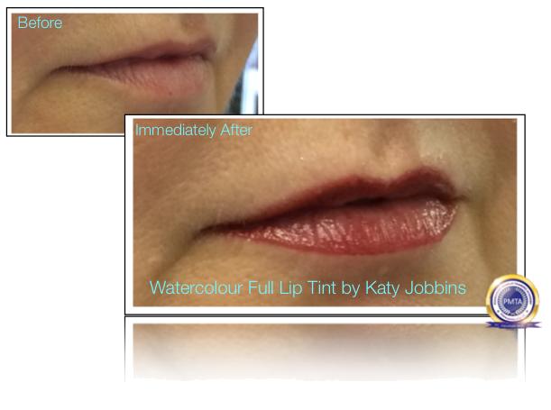 54-1-Katy Jobbins Permanent Makeup Watercolour Full Lip Tint