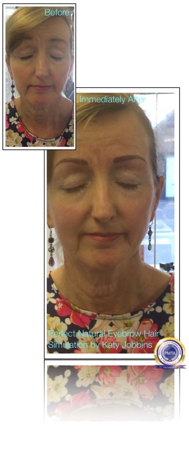 57-Katy Jobbins Permanent Makeup Perfect Natural Eyebrow Hair Simulation