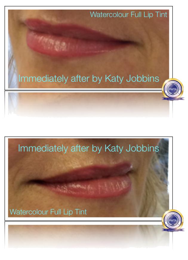After Having Full Lip Tint Permanent Makeup by Katy Jobbins