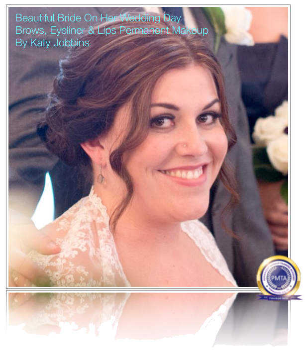 Beautiful Bride On Her Wedding Day With Full Permanent Makeup