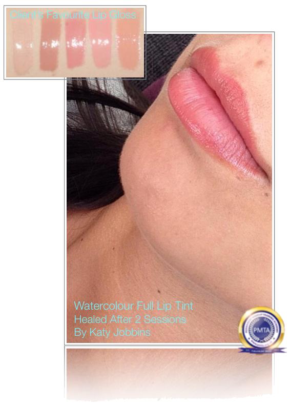 Permanent Makeup Matching Clients Favourite Lip Gloss Colour