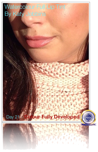 Day 21 - After Permanent Makeup Full Lip Tint