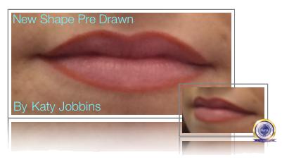 Pre Drawn Shape Before Permanent Makeup Watercolour Lip Blush