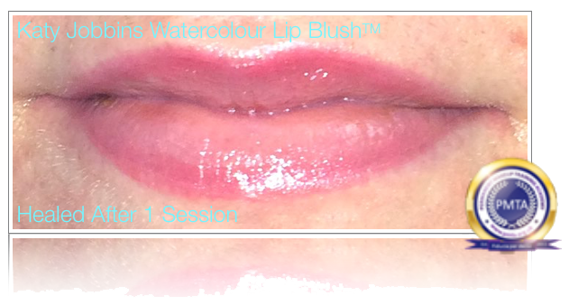 Healed After 1 Session of Permanent Makeup Watercolour Lip Blush