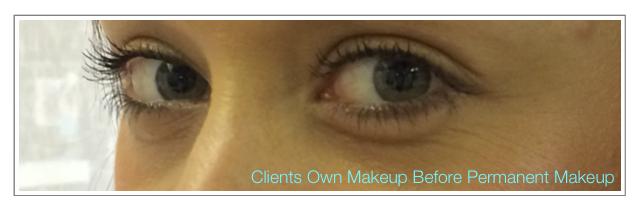 Before Permanent Makeup Upper & Lower Eyeline