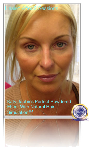Full Face of Permanent Makeup Looking Very Natural