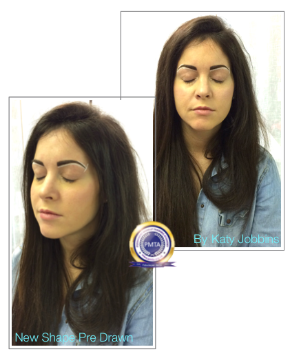 Pre Drawn Before Permanent Makeup Perfect Powdered Effect Eyebrows