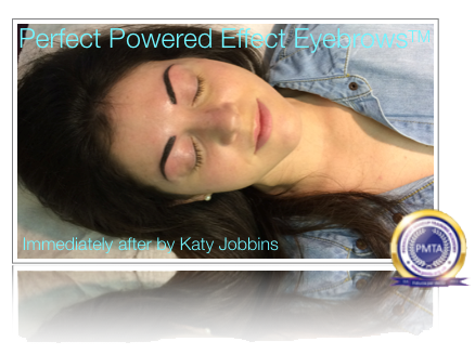 Immediately After Permanent Makeup Perfect Powdered Effect Eyebrows