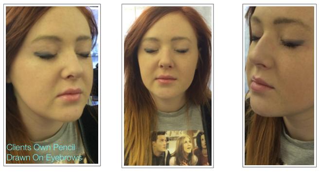 Prior To Permanent Makeup Natural Hair Simulation