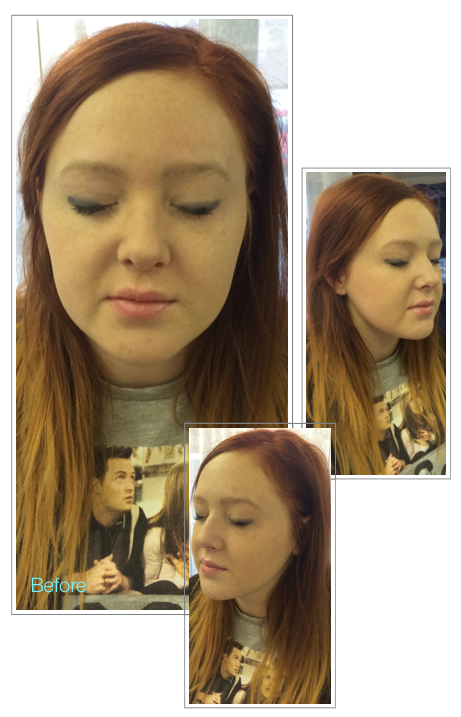 Before Permanent Makeup Natural Hair Simulation